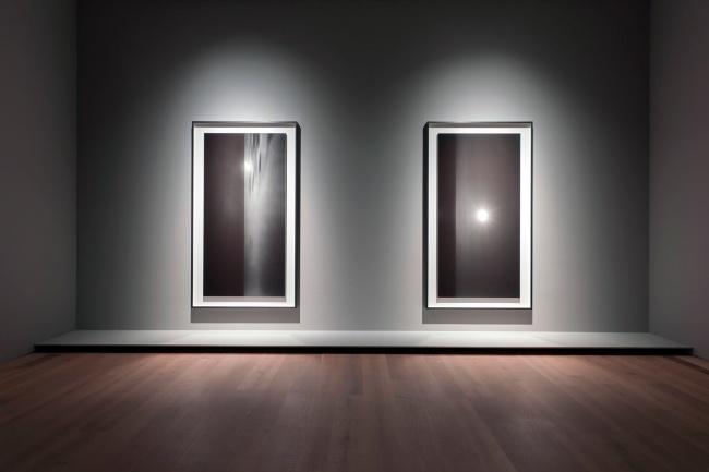 Installation photograph of 'Hiroshi Sugimoto. Revolution' at Museum Brandhorst, Munich, 2012