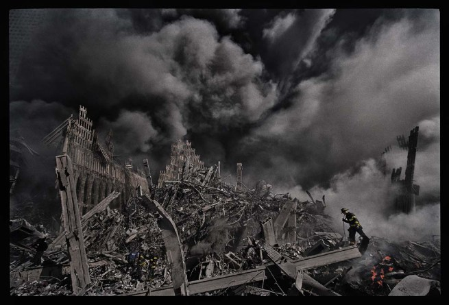 James Nachtwey. 'Firefighters search for survivors at Ground Zero' 2001