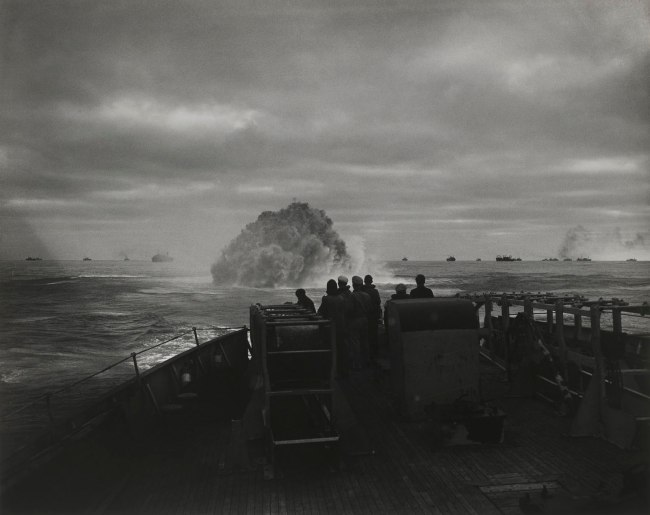 Warrant Photographer Jess W. January USCGR, American USCG. 'Cutter Spencer destroys Nazi sub' April 17, 1943
