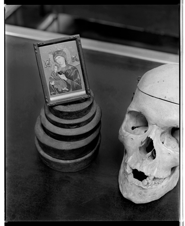 Marcus Bunyan. 'Madonna and child, skull' 1992-94