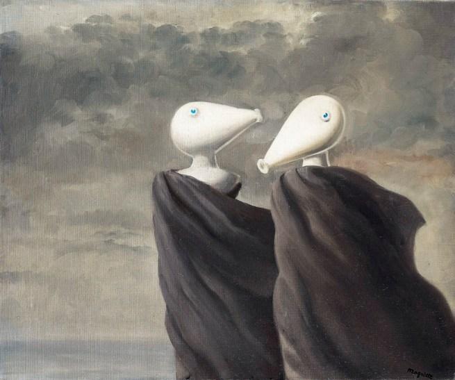 René Magritte (1898-1967) 'Sentimental Conversation' 1945