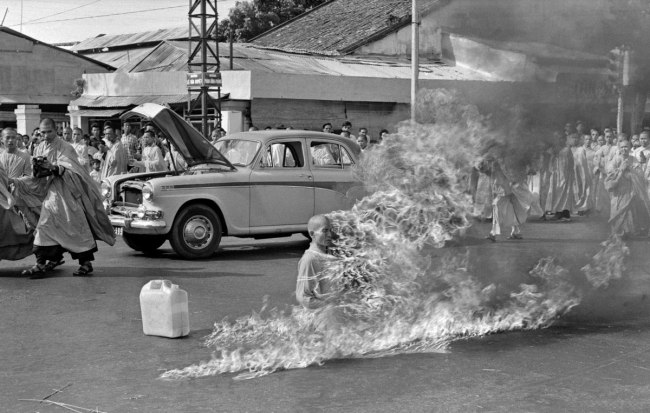 Malcolm Browne. 'Burning Monk - The Self-Immolation' 1963