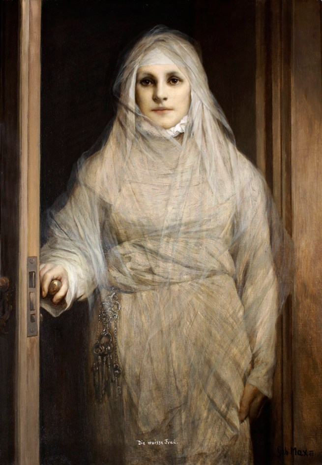 Gabriel von Max. 'The White Woman' 1900
