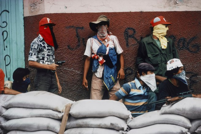 Susan Meiselas. 'Muchachos Await Counter Attack by The National Guard, Matagalpa, Nicaragua' 1978
