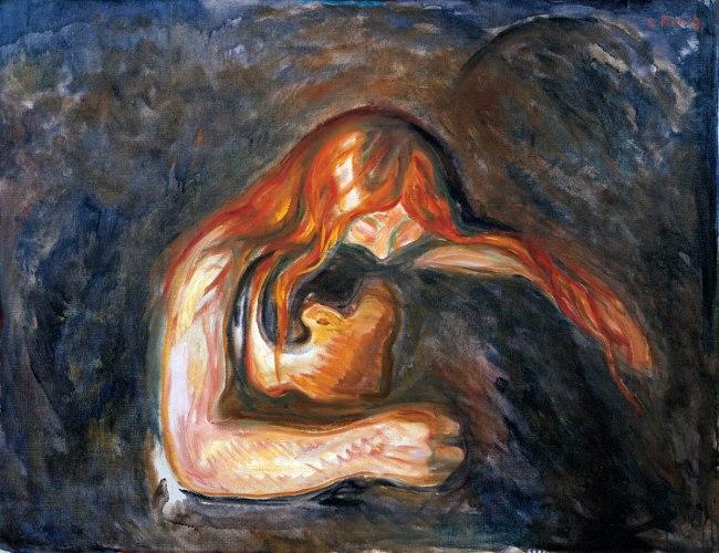 Edvard Munch. 'Vampire' 1916-1918