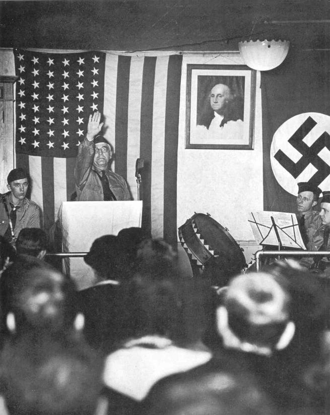 Otto Hagel. 'German-Americans at a meeting in New Jersey of the Deutsche Bund' 1940-41