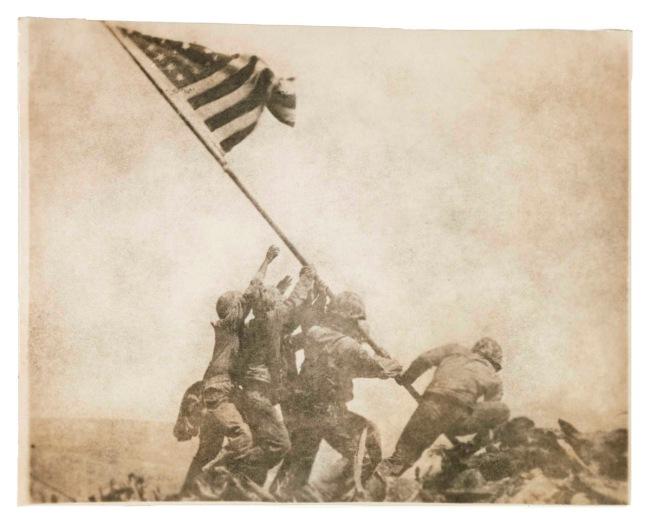 Joe Rosenthal, American (1911-2006) 'Old Glory Goes Up on Mount Suribachi, Iwo Jima' February 23, 1945