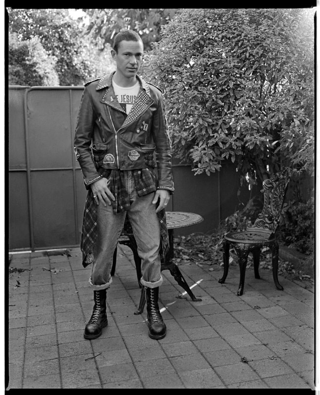 Marcus Bunyan. 'Self portrait with punk jacket and flanny' 1992-94