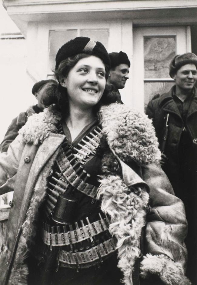Arkady Shaikhet (Russian, 1898-1959) 'Partisan Girl' 1942