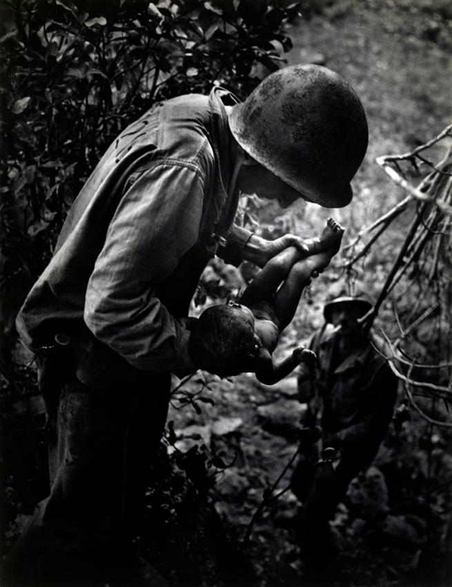 W. Eugene Smith, American (1918-1978) 'Dying Infant Found by American Soldiers in Saipan' June 1944