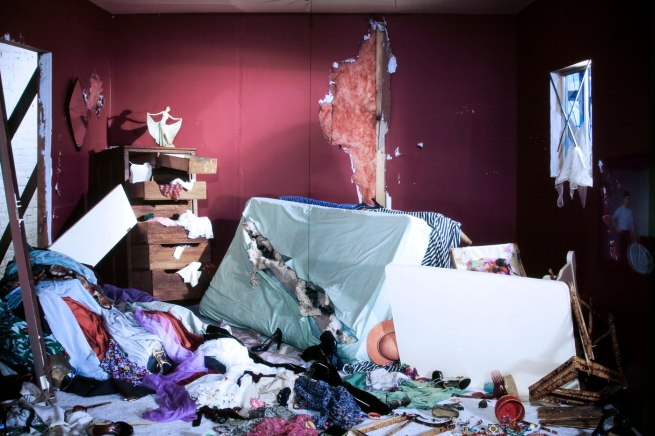 Jeff Wall Canadian 1946- 'The Destroyed Room' (detail) 1978
