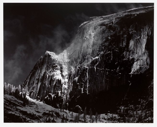 Ansel Adams. 'Half Dome, Blowing Snow, Yosemite National Park, California' c. 1955