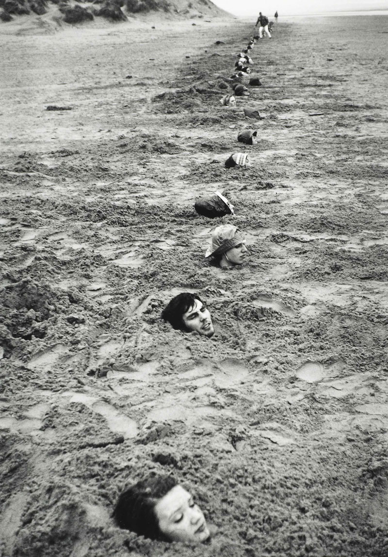 exhibition ends of the earth land art to at haus der liverpool beach burial 1968