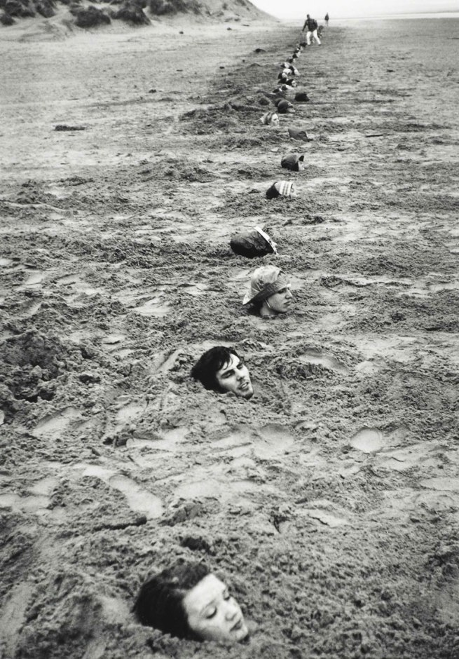 Keith Arnatt. 'Liverpool Beach Burial' 1968