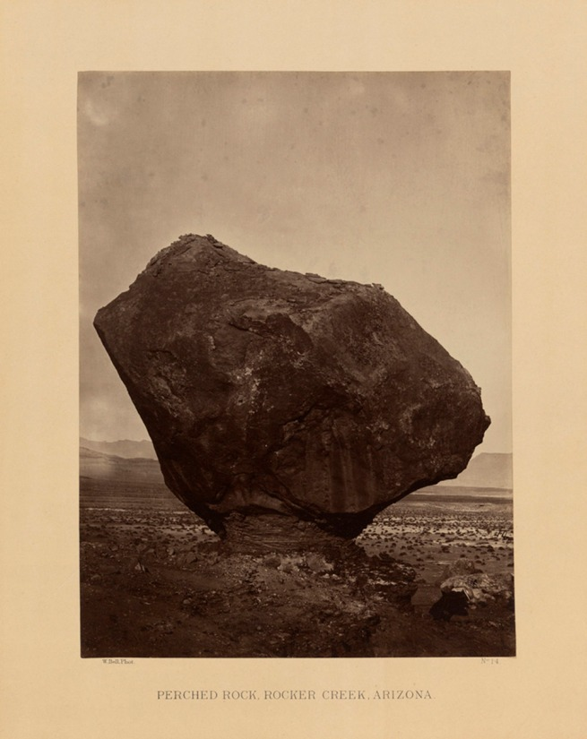 William H. Bell. 'Perched Rock, Rocker Creek, Arizona' 1872