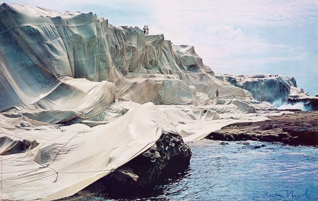 Christo and Jeanne-Claude. 'Wrapped Coast - One Million Square Feet' 1968-69