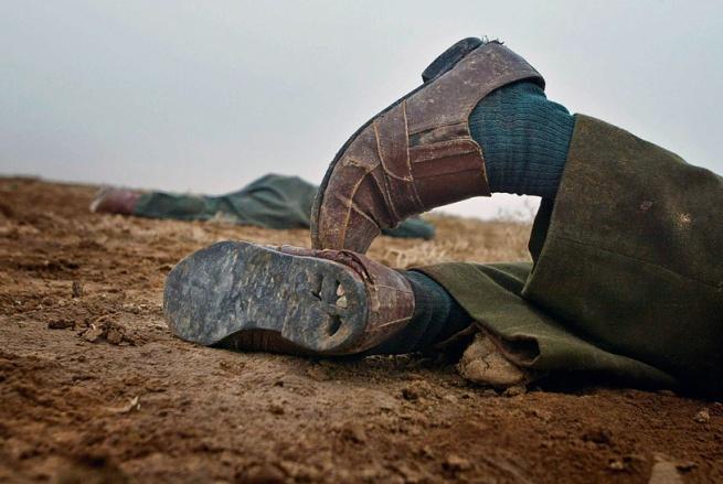 David Leeson American, b.1957 'Death of a Soldier, Iraq' March 24, 2003