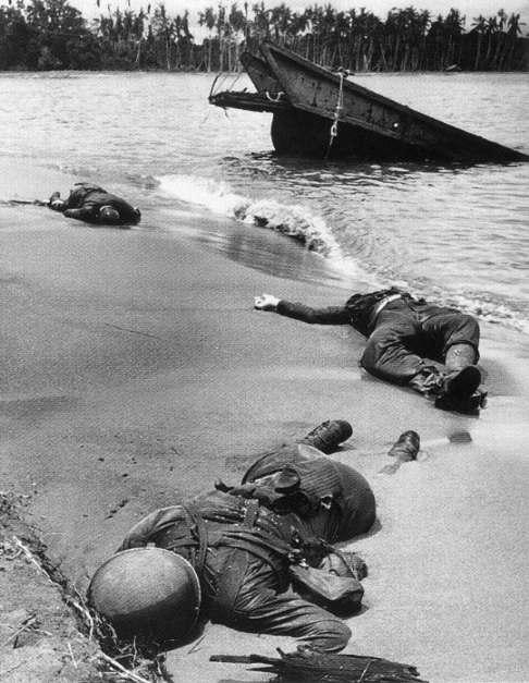 George Strock. 'Dead GIs on Buna Beach, New Guinea' January 1943