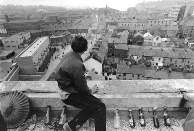 Gilles Caron (French, 1939-1970) 'Young Catholic demonstrator on Londonderry Wall, Northern Ireland' 1969