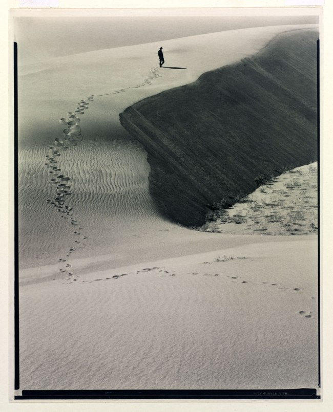Laura Gilpin (American, 1891-1979) 'Footprints in the Sand' 1931