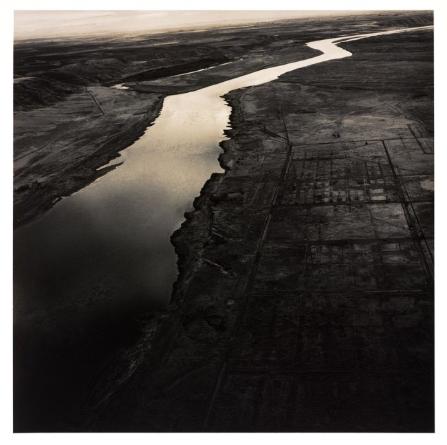 Emmet Gowin (American, b. 1941) (RISD MFA 1967) 'Old Hanford City Sites and the Columbia River, Hanford Nuclear Reservation near Richland, Washington' 1986