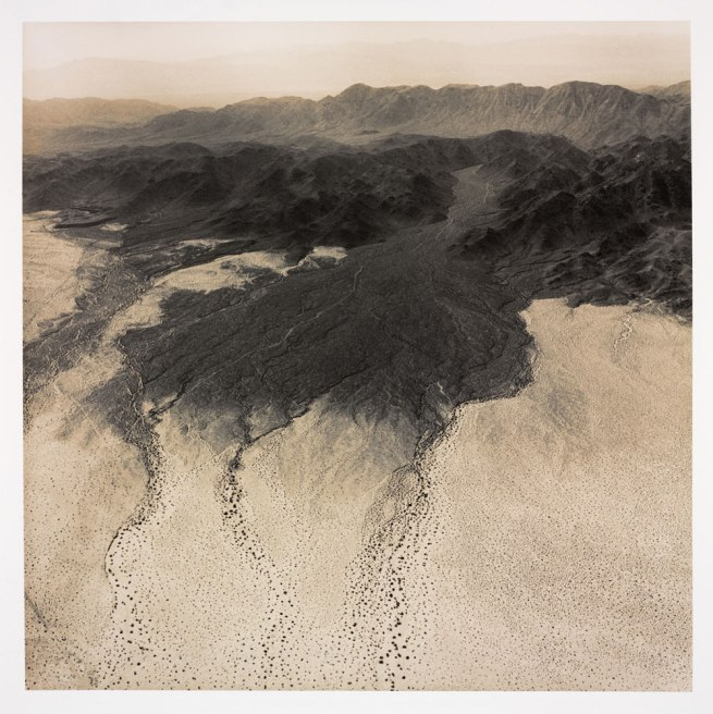 Emmet Gowin (American, b. 1941) (RISD MFA 1967) 'Alluvial Fan, Natural Drainage near Yuma Proving Ground and the California Arizona Border' 1988