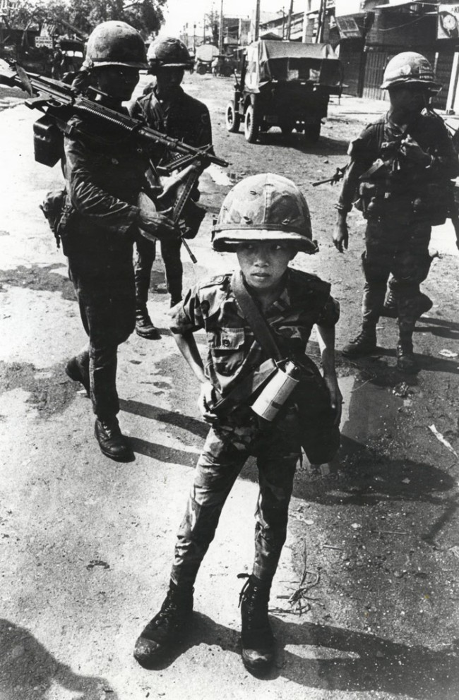 """Philip Jones Griffiths Welsh (1936-2008) 'Called """"Little Tiger"""" for killing two """"Vietcong women cadre"""" - his mother and teacher, it was rumored, Vietnam' 1968"""