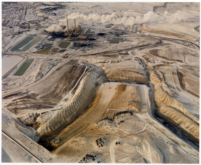 David T. Hanson. 'Coal Strip Mine, Power Plant and Waste Ponds' 1984