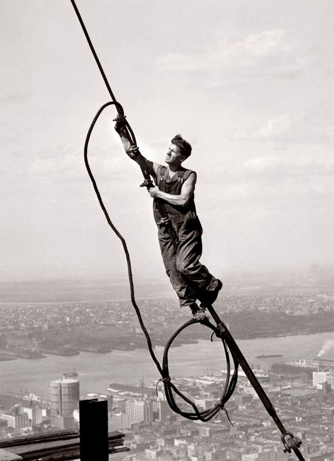 Lewis Hine. 'The Sky Boy' 1931