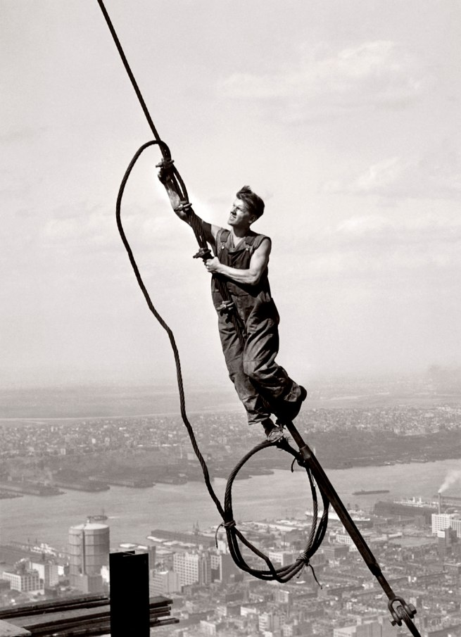 Lewis Hine. 'The Sky Boy' 1931