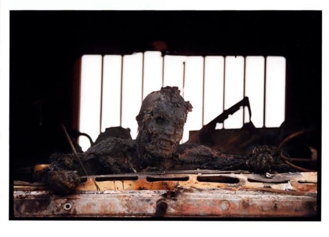 Kenneth Jarecke. 'Gulf War: Incinerated Iraqi soldier in personnel carrier' Nasiriyah, Iraq, March1991
