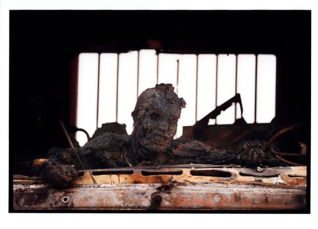 Kenneth Jarecke. 'Gulf War: Incinerated Iraqi soldier in personnel carrier' Nasiriyah, Iraq, March1991
