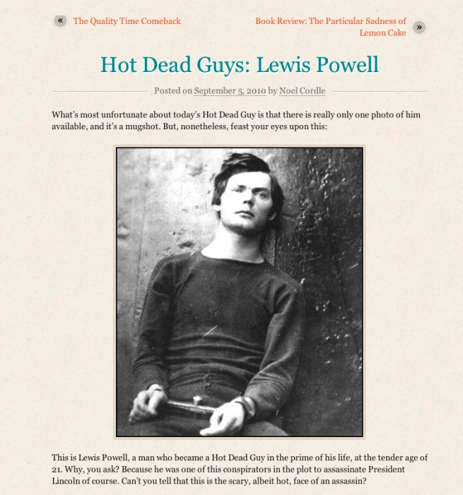 Hot Dead Guys: Lewis Powell