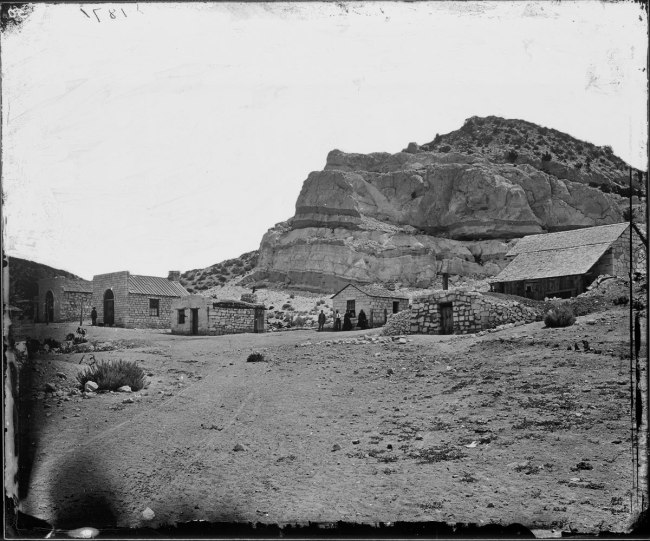 Timothy O'Sullivan (American, b. Ireland, 1840-1882) 'Water Rhyolites, Near Logan Springs, Nevada' 1871
