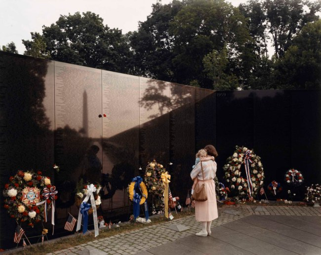 Joel Sternfeld (American, b. 1944) 'Vietnam Veterans Memorial, Washington, D.C.,' May 1986