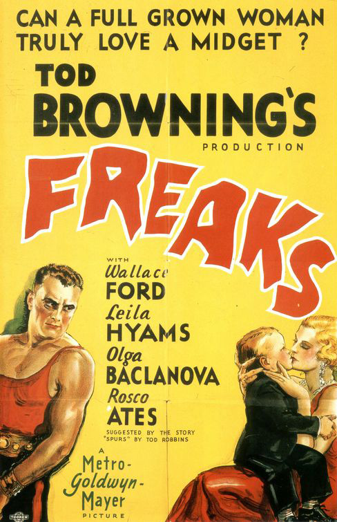 Theatrical poster for 'Freaks' 1932
