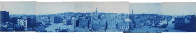 Unknown artist (American), 'Providence Panorama from Grosvenor or Bannigan Building' c. 1900