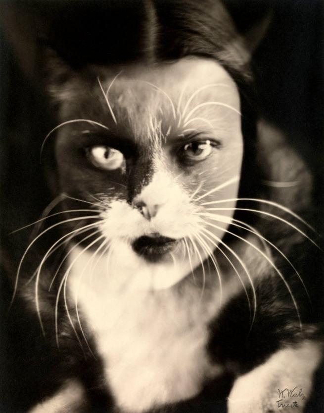 Wanda Wulz. 'Io + gatto (Cat + I)' 1932