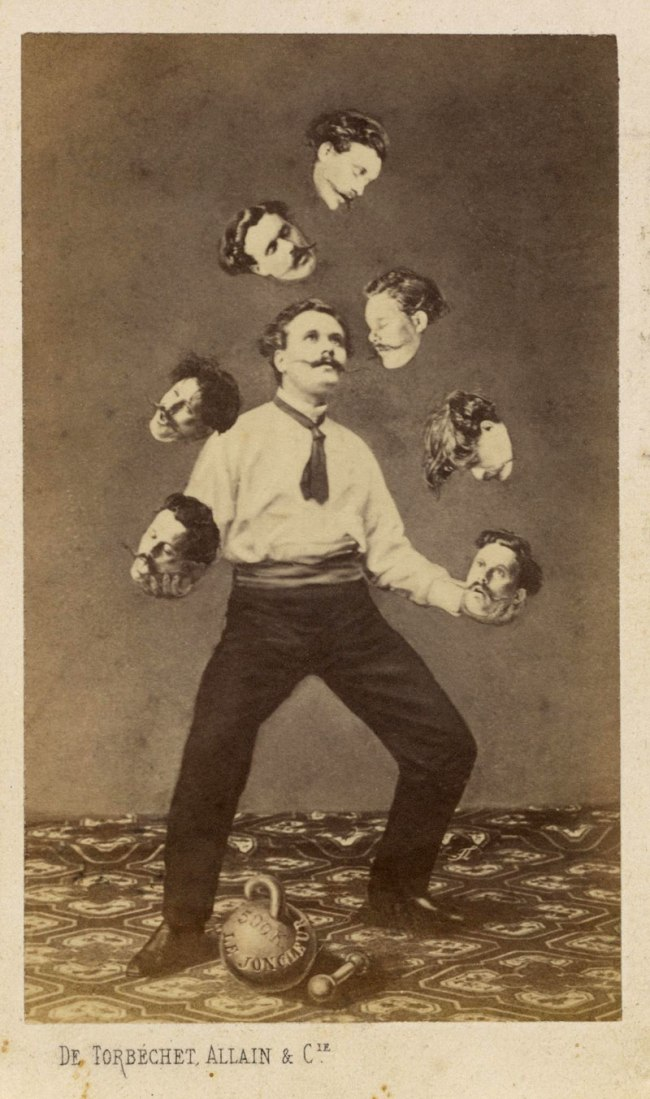 Unidentified artist. 'Man Juggling His Own Head' c. 1880