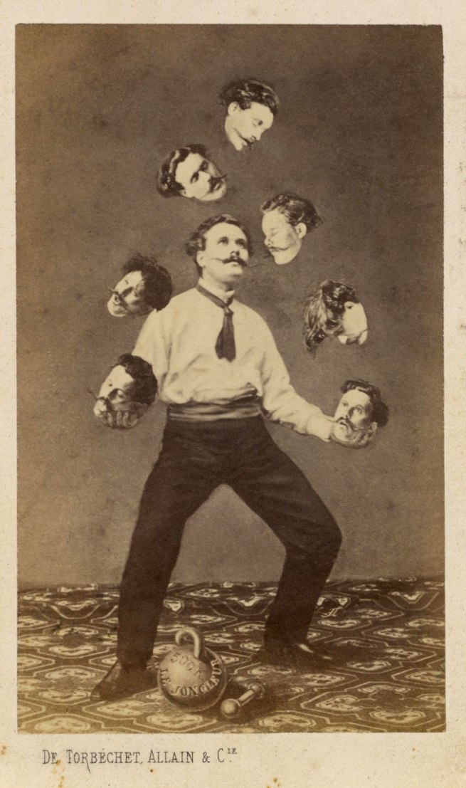Unidentified artist. 'Man Juggling His Own Head' ca. 1880
