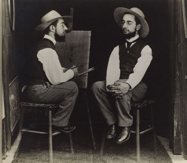 Maurice Guibert. 'Henri de Toulouse-Lautrec as Artist and Model' ca. 1900