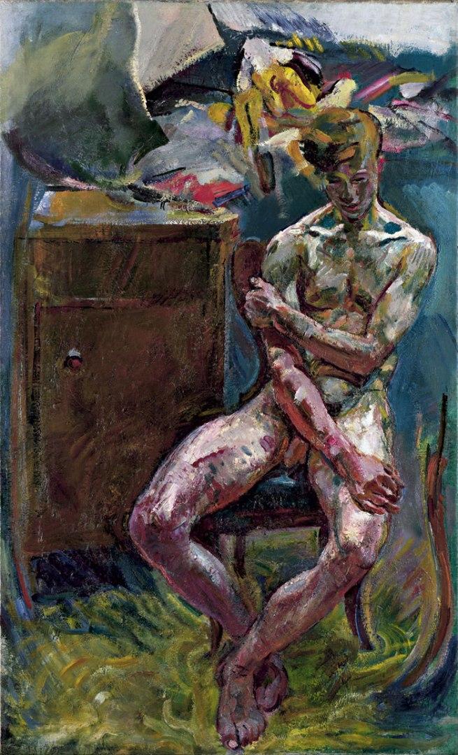 Anton Kolig. 'Seated Youth (morning)' 1919