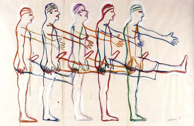 Bruce Nauman. 'Untitled (Five Marching Men)' 1985