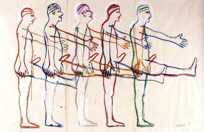 Bruce Nauman. 'Untitled (Five Marching Men)' 1985