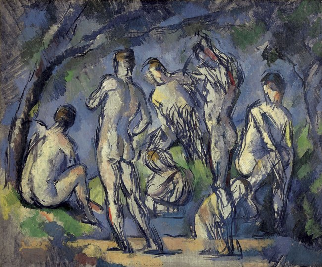 Paul Cézanne. 'Seven Bathers' c. 1900