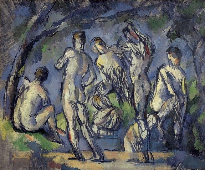 Paul Cézanne. 'Seven Bathers' ca. 1900
