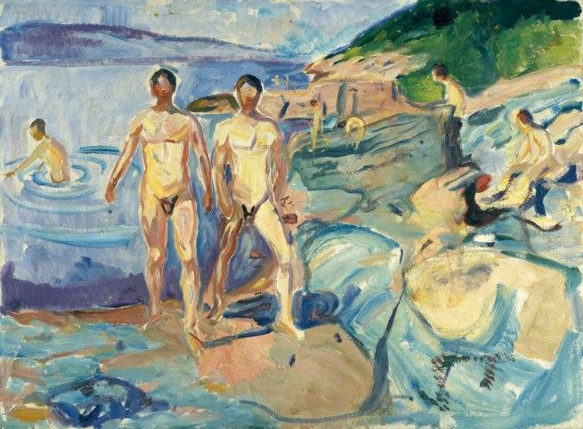 Edvard Munch. 'Bathing Men' 1915