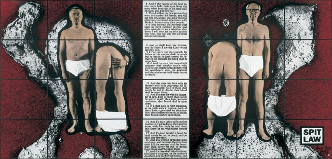 Gilbert & George. 'Spit Law' 1997