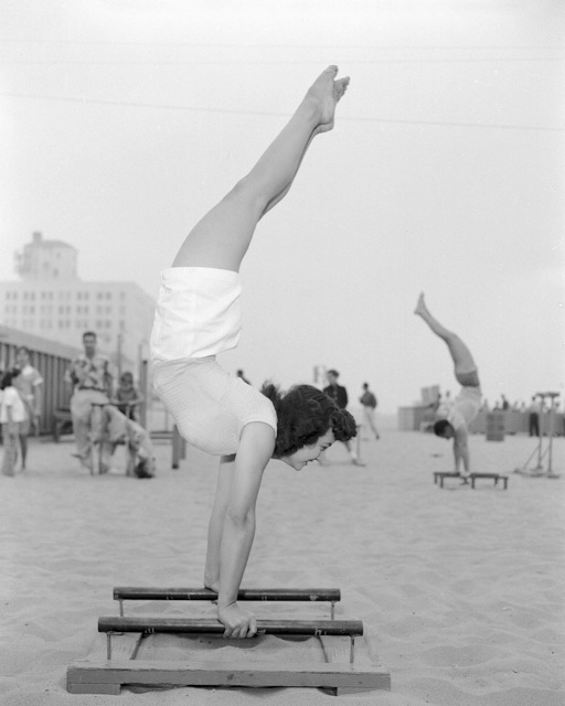 Bob Mizer. 'Unknown, Handstand, Santa Monica' 1945
