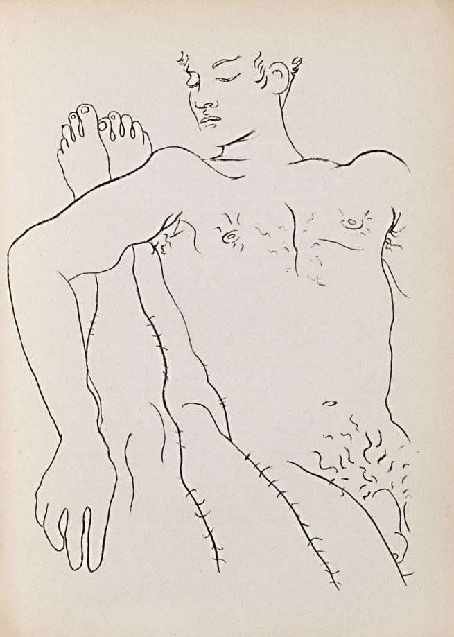 Jean Cocteau. 'Male Couple Illustration for Jean Genet's 'Querelle de Brest'' 1947
